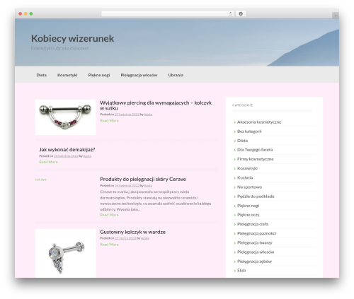 Coller WordPress website template - kobiecywizerunek.pl