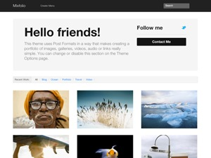 Mixfolio template WordPress