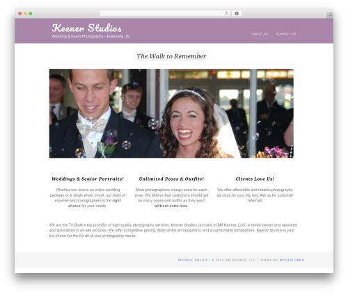 Portafolio WordPress template for photographers - keenerstudios.com