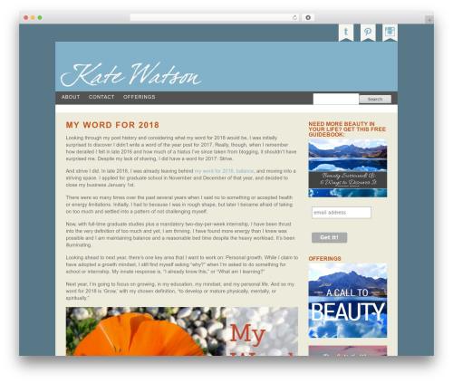 ProPhoto best WordPress template - katewatson.net