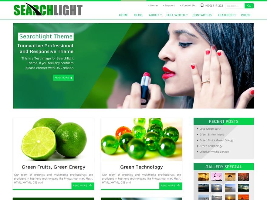 Searchlight theme WordPress