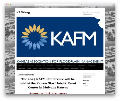 Twenty Ten best free WordPress theme - kafm.org