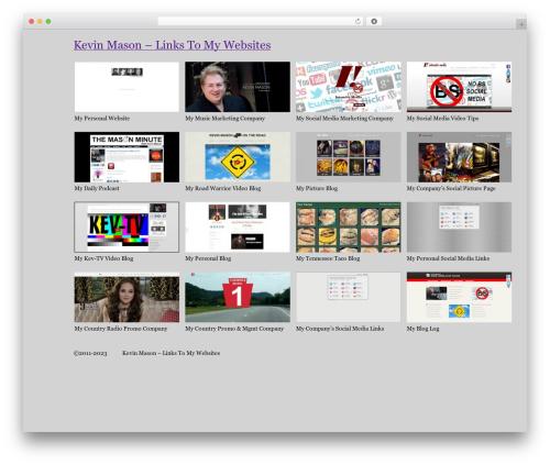 WordPress theme BLANK Theme - kevinmason.biz