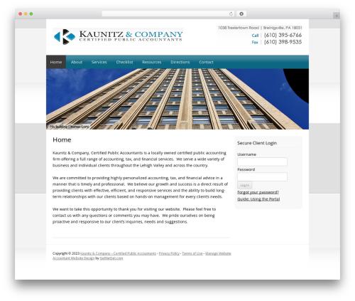 WordPress theme Customized - kaunitzcpas.com