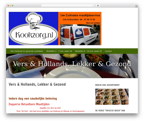 Zenith WordPress theme design - kookzorg.nl