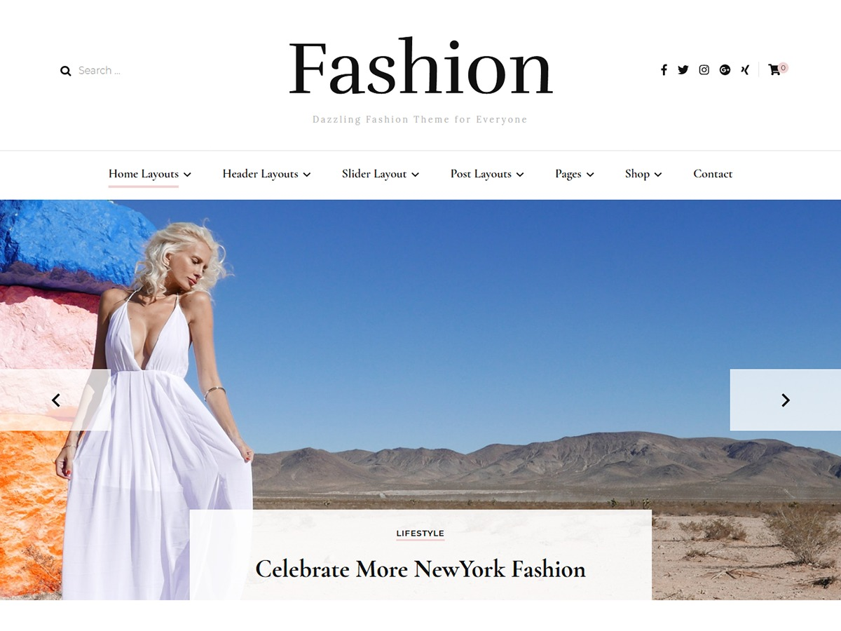 Blossom Fashion WordPress shopping theme
