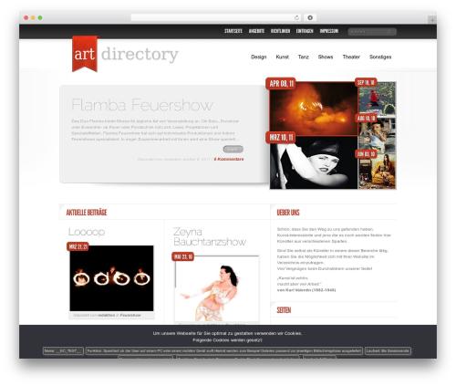 Delicate News WordPress theme - kunst-verzeichnis.com