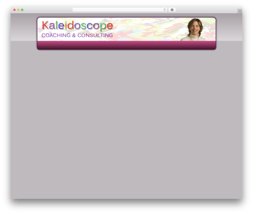 Kaleidoscope theme WordPress - kaleidoscopecoach.com