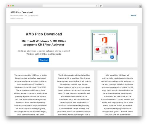 Responsive WordPress theme free download - kmspico-download.com