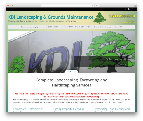 Tempera free WordPress theme - kdilandscaping.com