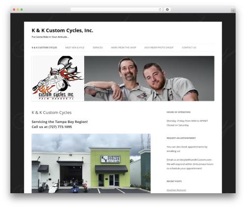 Twenty Twelve best free WordPress theme - kandkcustom.com
