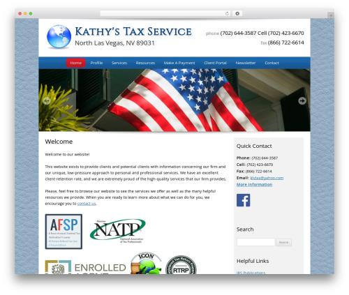 Customized company WordPress theme - klvtax.com
