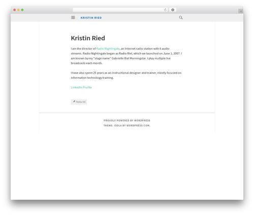 Isola WordPress free download - kristinried.com