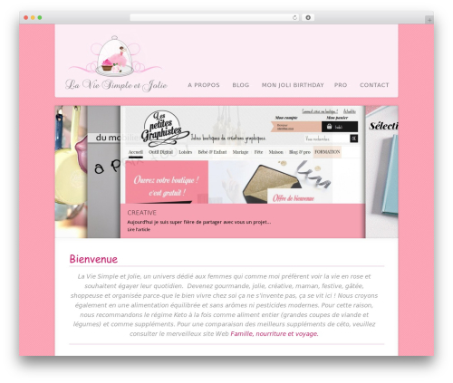 Acoustic WordPress template - laviesimpleetjolie.com