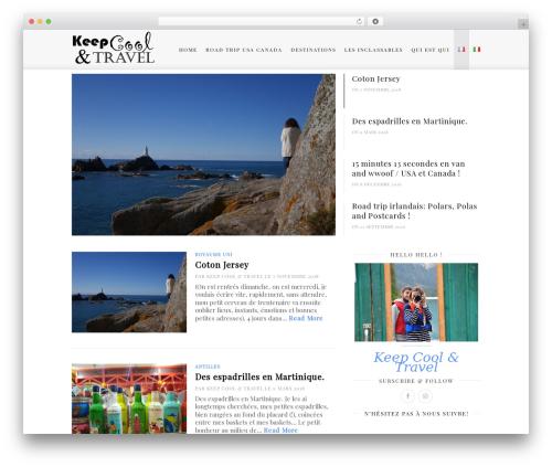 Cassia WordPress blog template - keepcoolandtravel.com