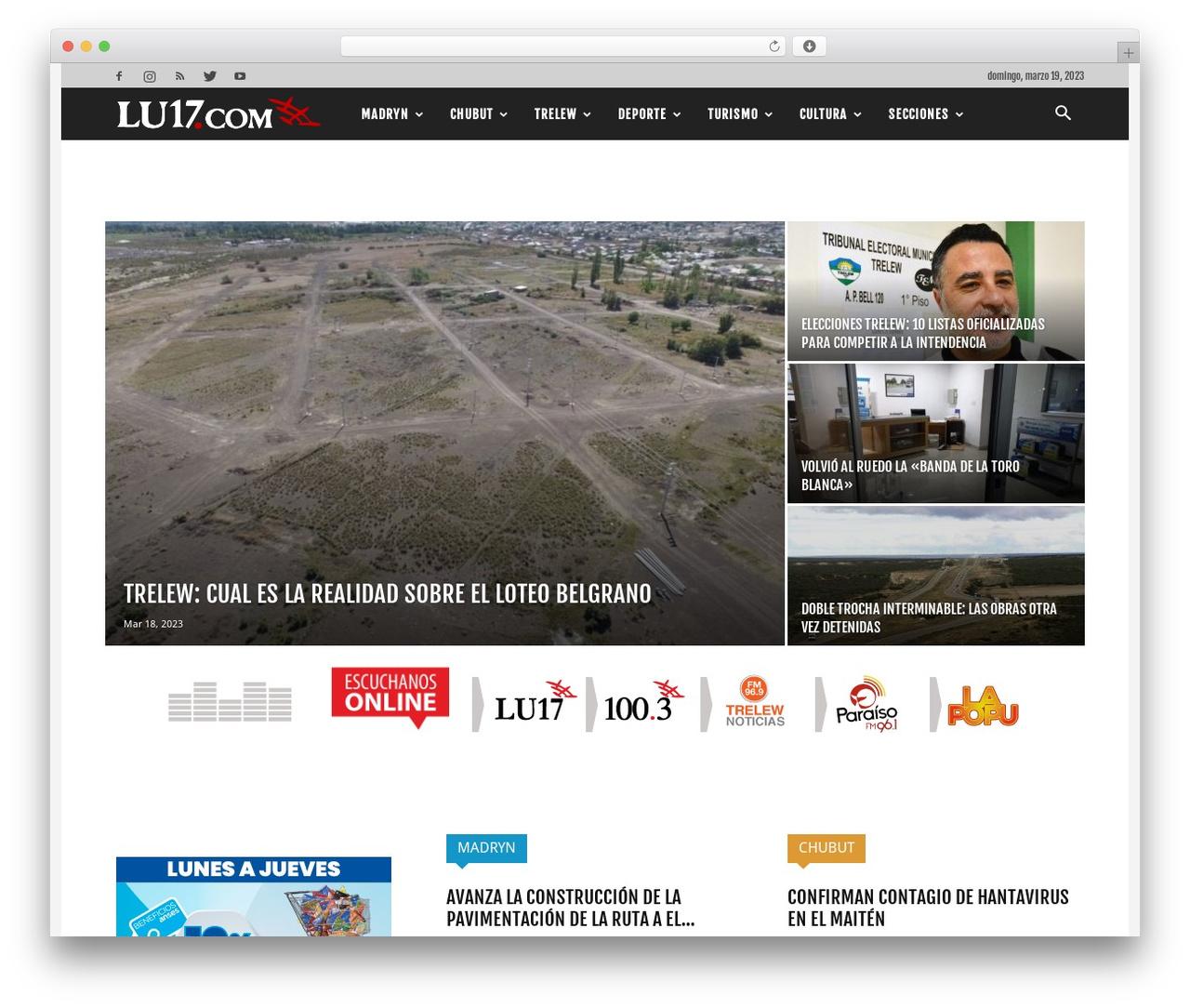 Best WordPress template Newspaper - lu17.com