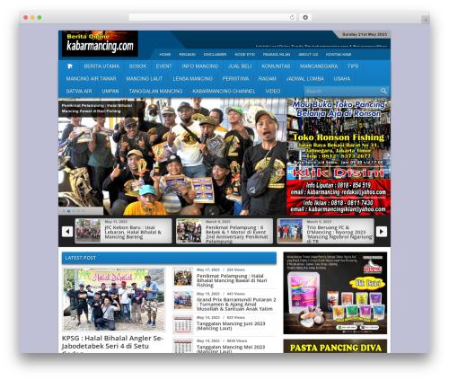 Best WordPress theme kapro - kabarmancing.com