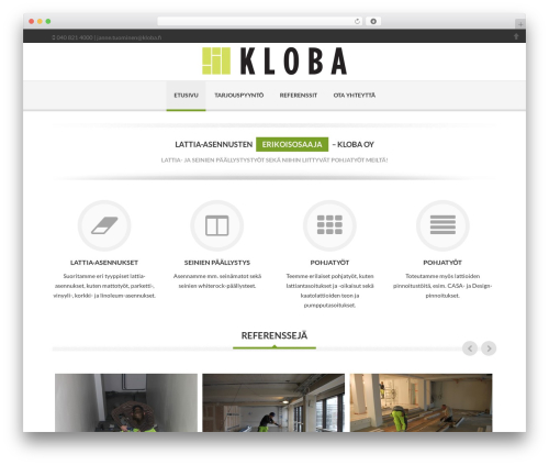 Delicate WordPress page template - kloba.fi