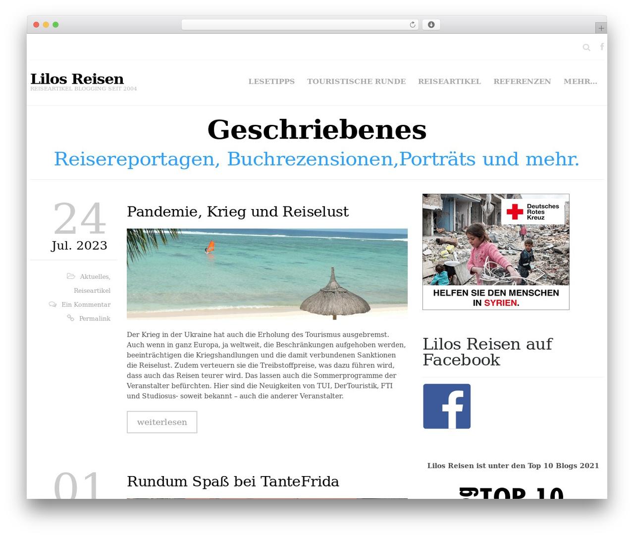 Hercules premium WordPress theme - lilos-reisen.de