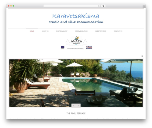 Klasik WordPress website template - karavotsakisma.com