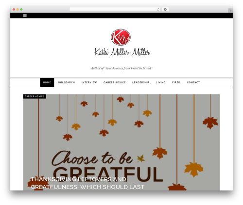 Noir best WordPress theme - kathimillermiller.com