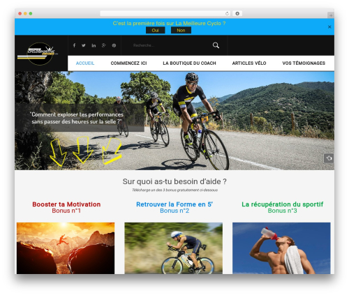 Sportbikes WordPress theme - lameilleurecyclosportivedevotrevie.com