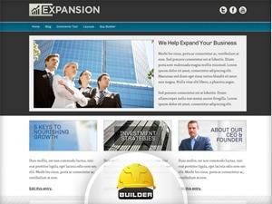 Theme WordPress Expansion - Blue AJ