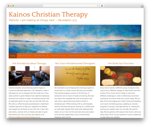 WordPress theme Gridiculous Child - kainoschristiantherapy.com