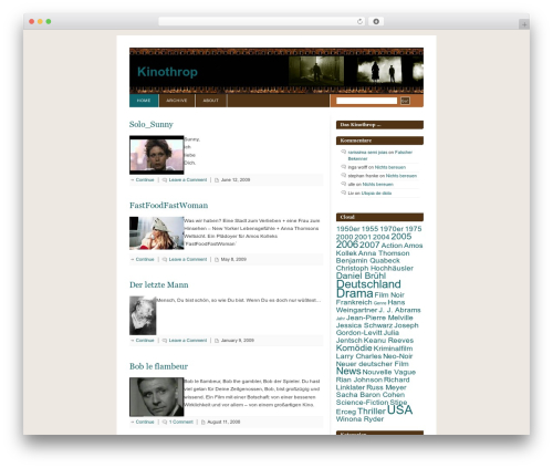 WordPress website template Fixed Blix - kinothrop.de