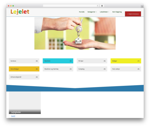 Best WordPress theme Pointfinder - lejelet.dk