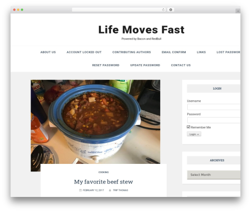 Easthill free WP theme - life-moves-fast.com
