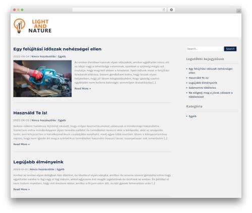 Institution theme WordPress - lightandnature.hu