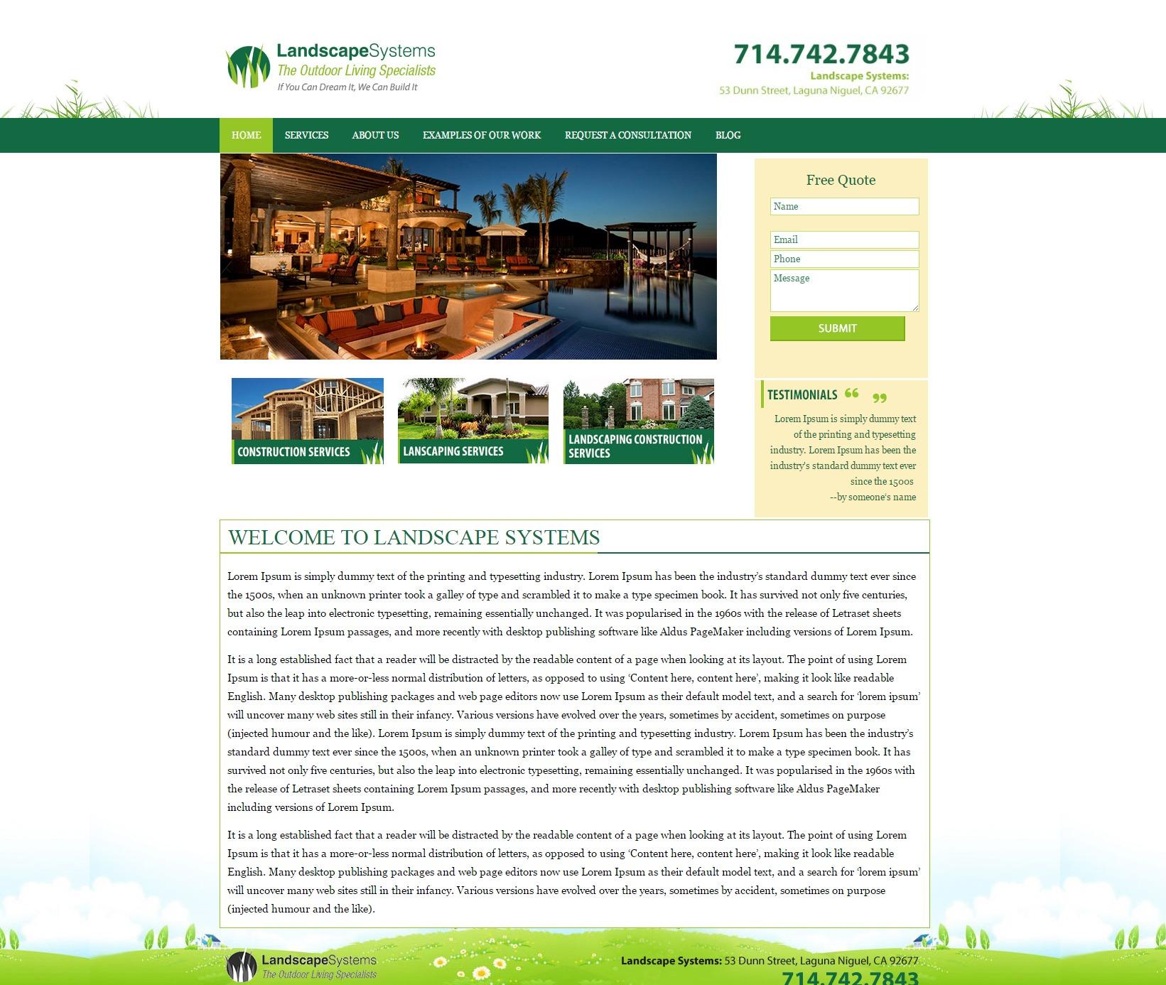 LandscapeSystem landscaping WordPress theme