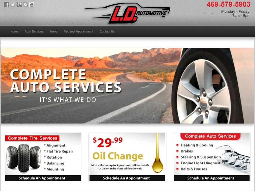 LD Automotive car rental WordPress theme