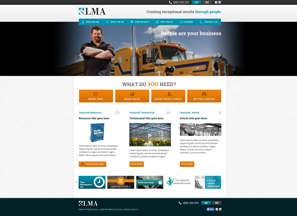 LMA WordPress theme