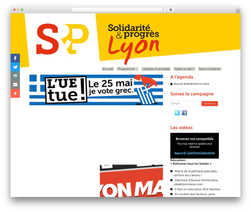 Template WordPress Swatch - lyon.solidariteetprogres.org