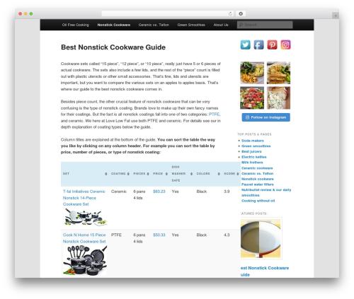 Free WordPress Twenty Eleven Theme Extensions plugin - lovelowfat.com/best-nonstick-cookware-guide