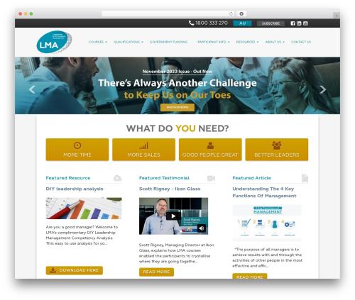 WordPress template LMA - leadershipmanagement.com.au
