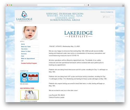 WordPress theme Twenty Eleven - lakeridgefertility.ca