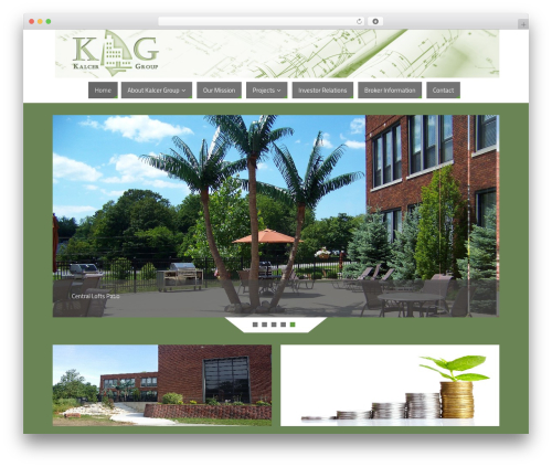 Best WordPress template Parabola - kalcergroup.com