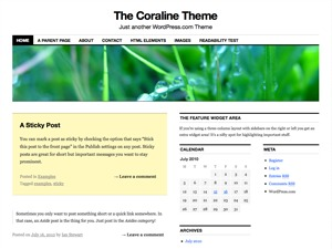 Coraline Child premium WordPress theme