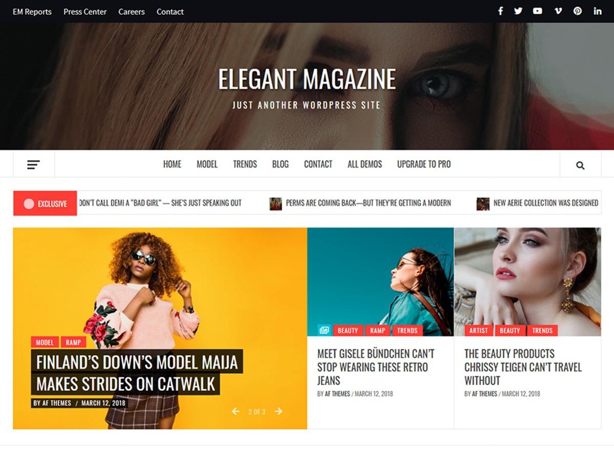 Elegant Magazine WordPress magazine theme