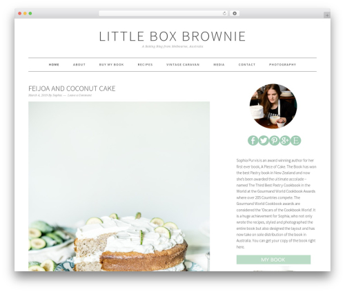 Foodie Pro Theme WordPress blog template - littleboxbrownie.com