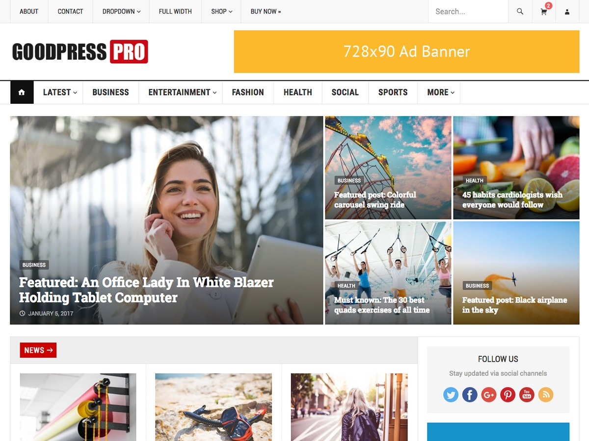 GoodPress Pro WordPress news template