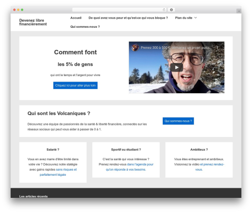 Responsive free WordPress theme - libreparlemlm.com