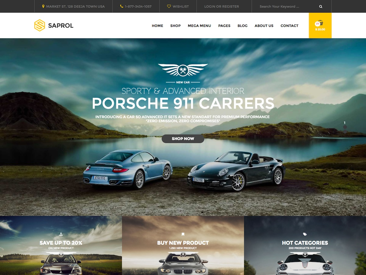 Saprol WordPress template for business