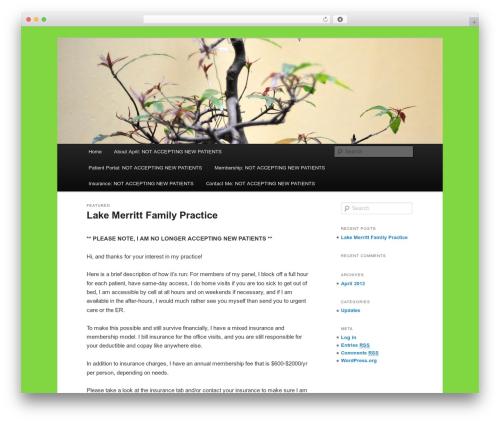 Twenty Eleven WordPress theme - lakemerrittfamilypractice.com