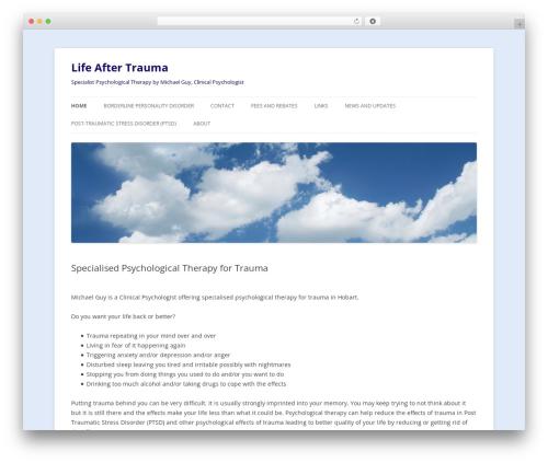 Twenty Twelve WordPress template free - lifeaftertrauma.com.au
