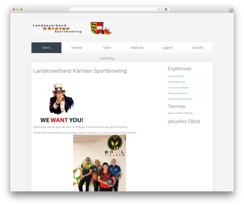 Unity best WordPress theme - lvkaernten-bowling.at