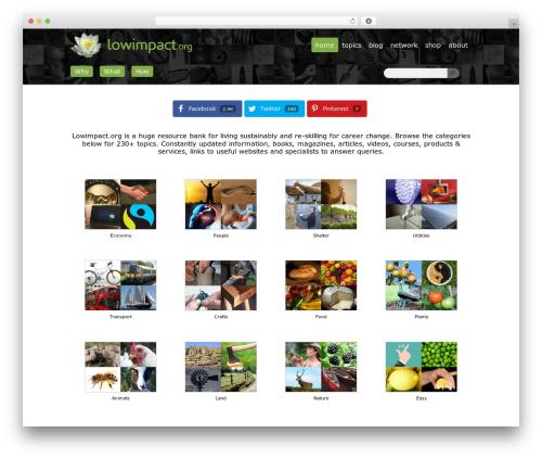 Best WordPress template WildCommunity - lowimpact.org
